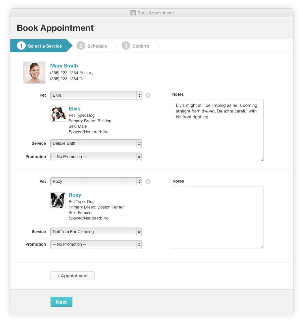 Web Based Appointment Scheduling