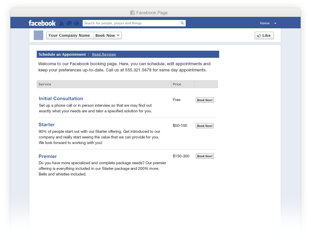 Web Based Appointment Scheduling Software For Facebook